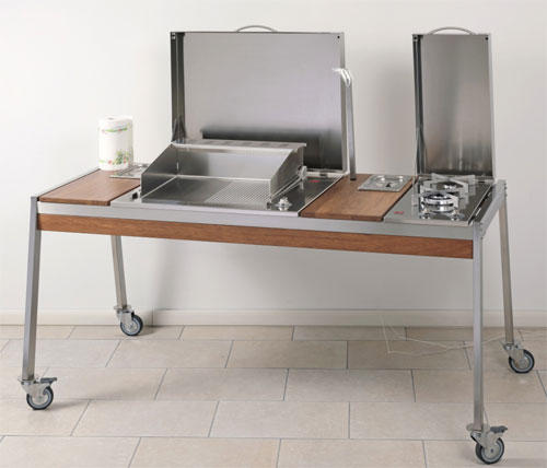 Luchinger sa grils barbecues planchas en acier inoxydable for Table pour plancha inox